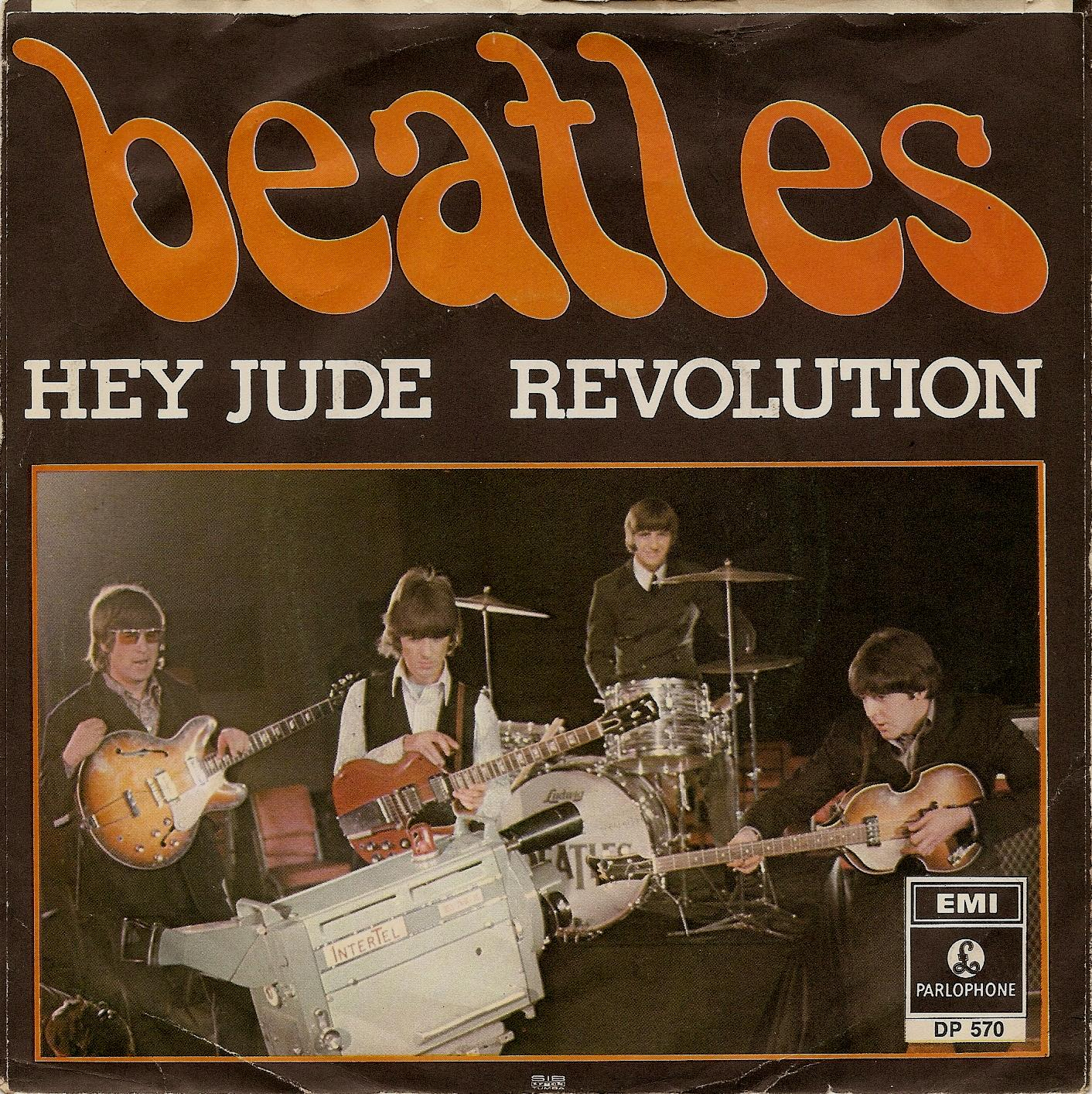 The Beatles - Hey Jude/Beatles Again 1970 LP with rare sticker