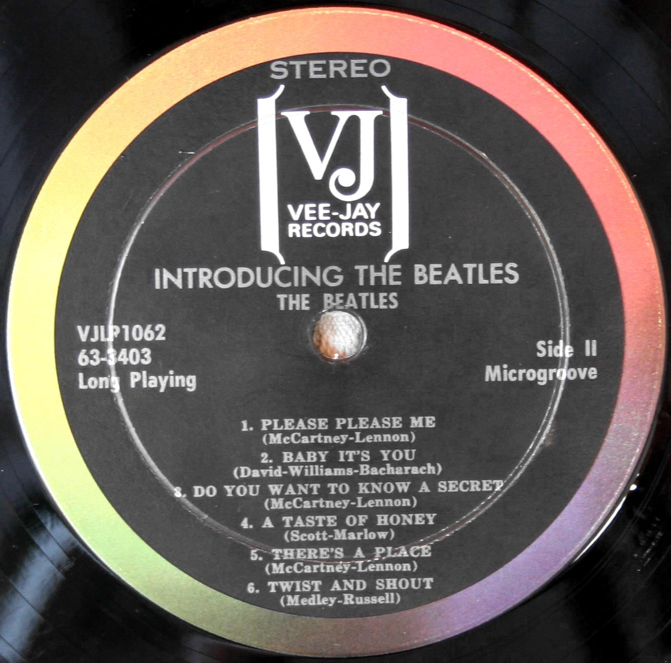 Gmail themes beatles - Introducing The Beatles Vee Jay Vjlp 1062 Stereo Record Variations Version Two