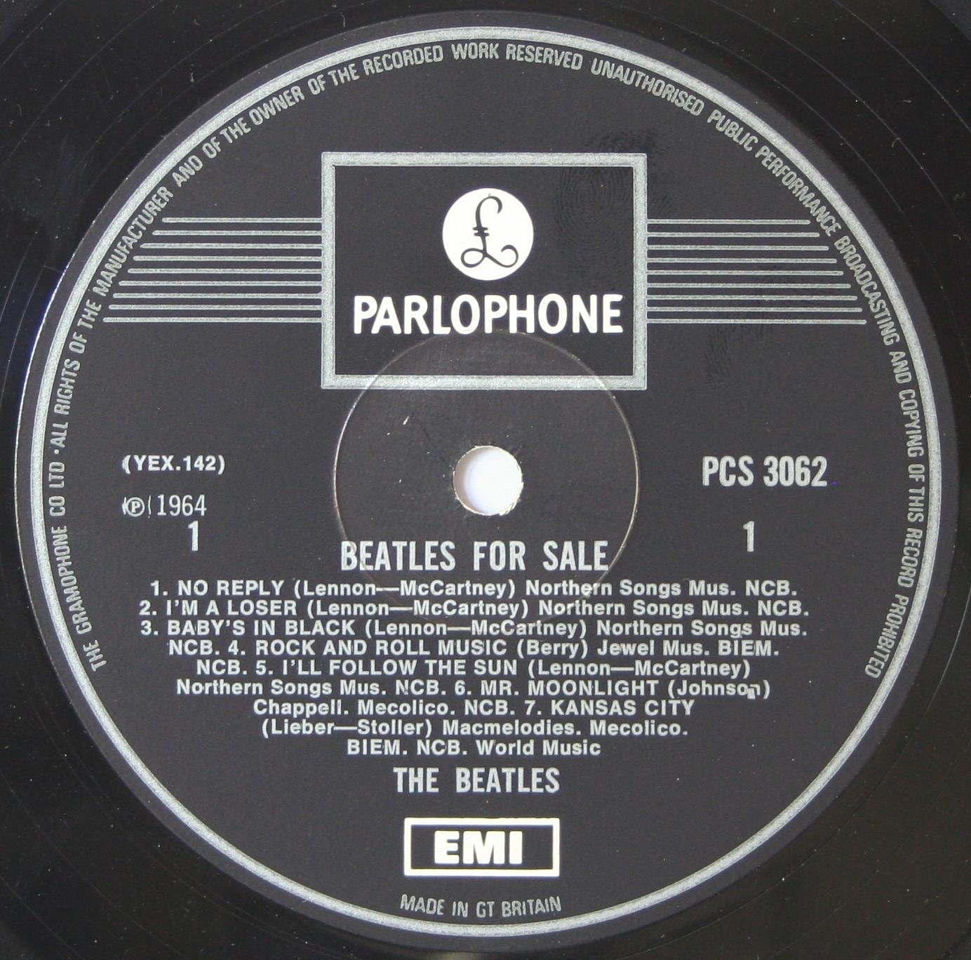 The Beatles Collection 187 Beatles For Sale Parlophone Pcs