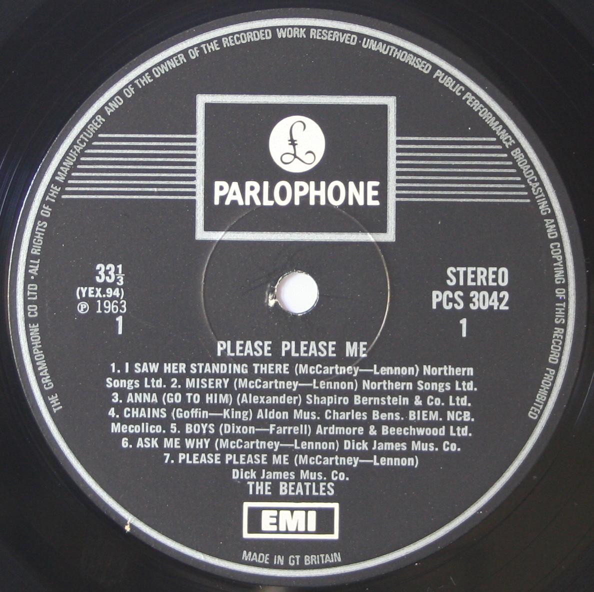 The Beatles Collection 187 Please Please Me Parlophone Pcs