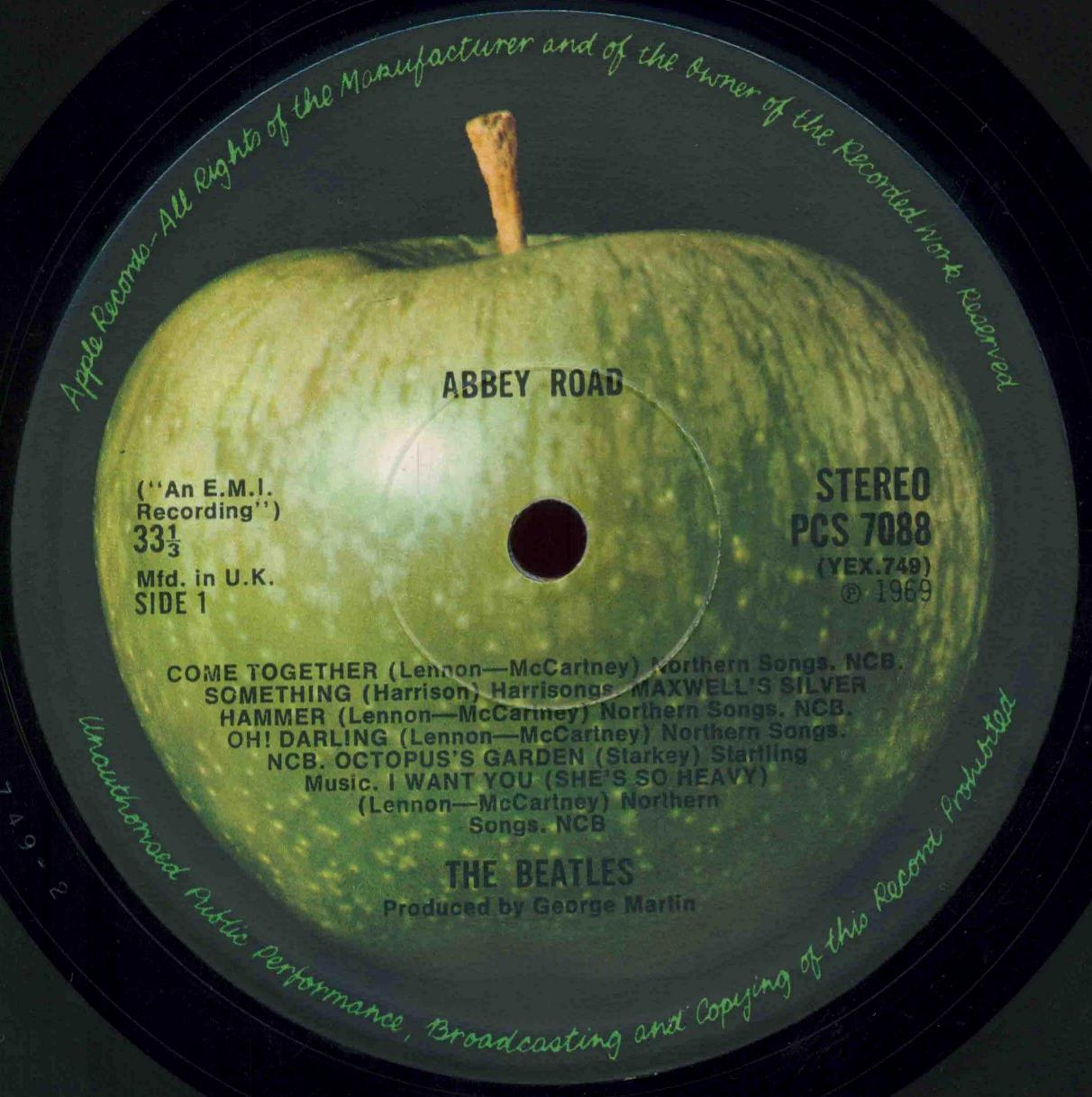 The Beatles Collection Apple Labels