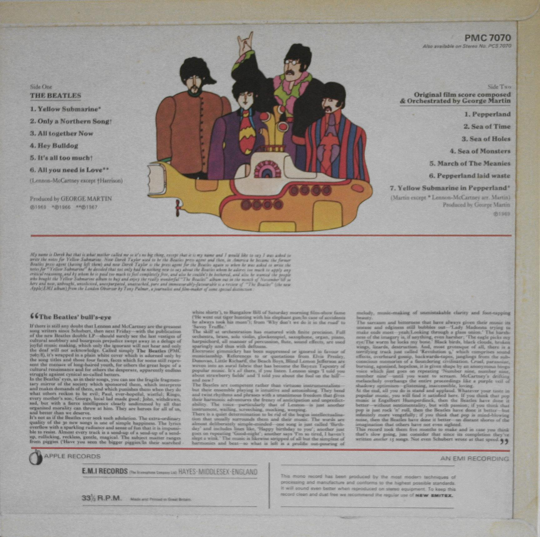 The Beatles Collection » Yellow Submarine, Apple PMC 7070