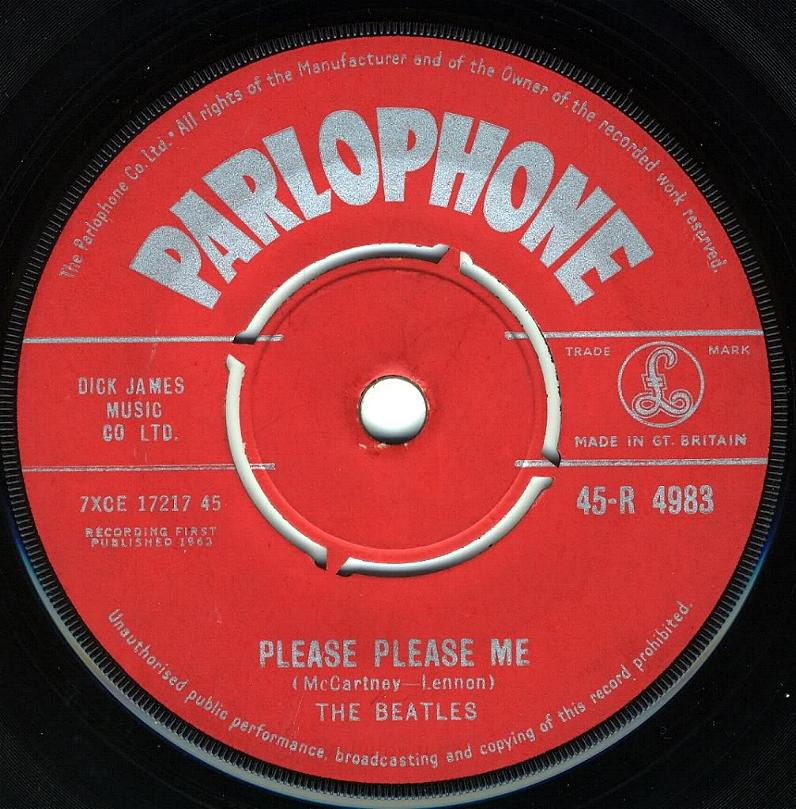 The Beatles Collection 187 Parlophone 45 Labels