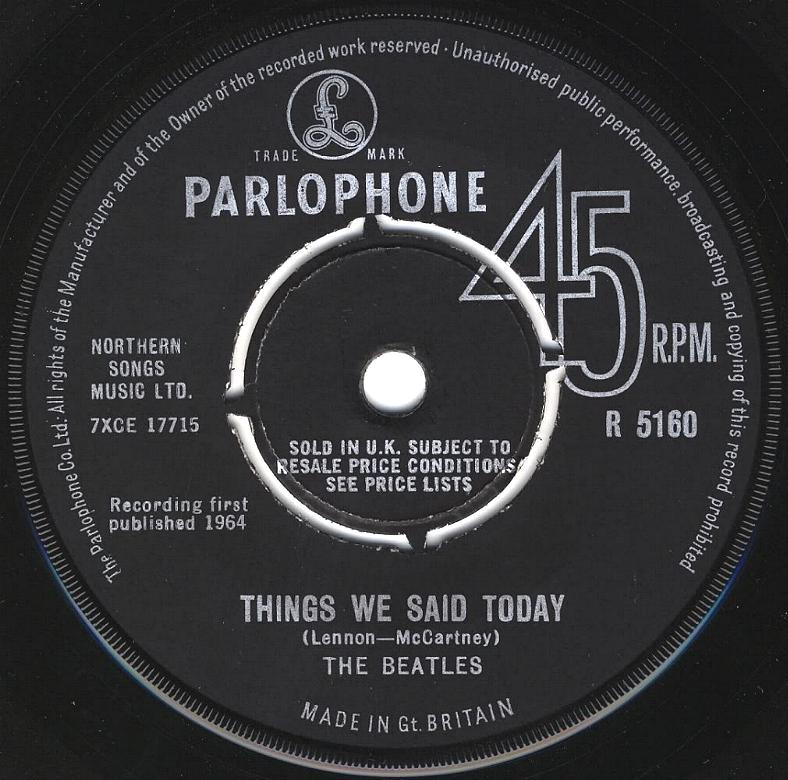 The Beatles Collection 187 A Hard Day S Night Things We