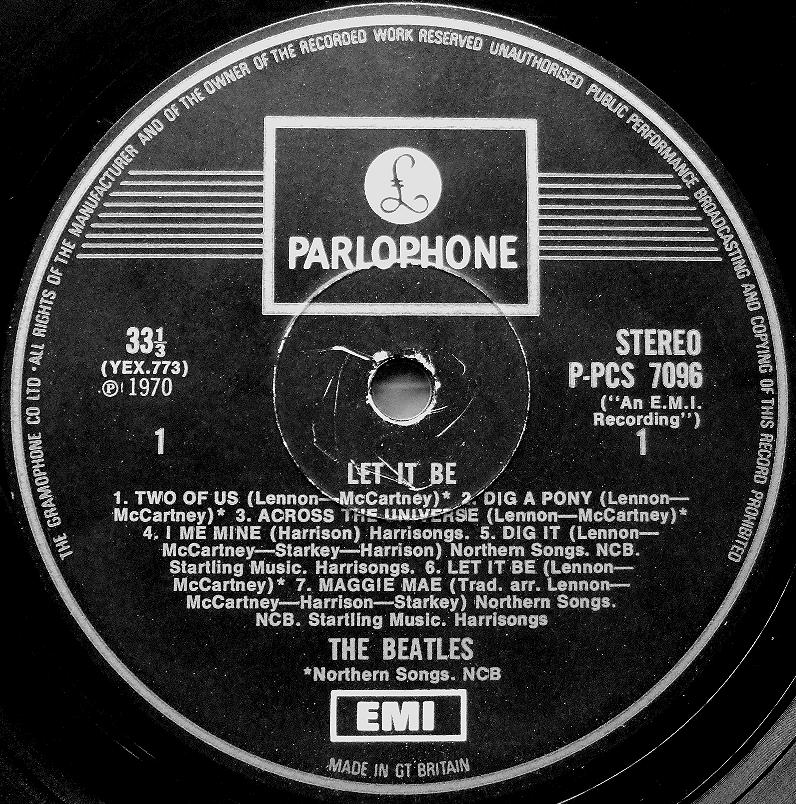 The Beatles Collection 187 Let It Be Parlophone P Pcs 7096