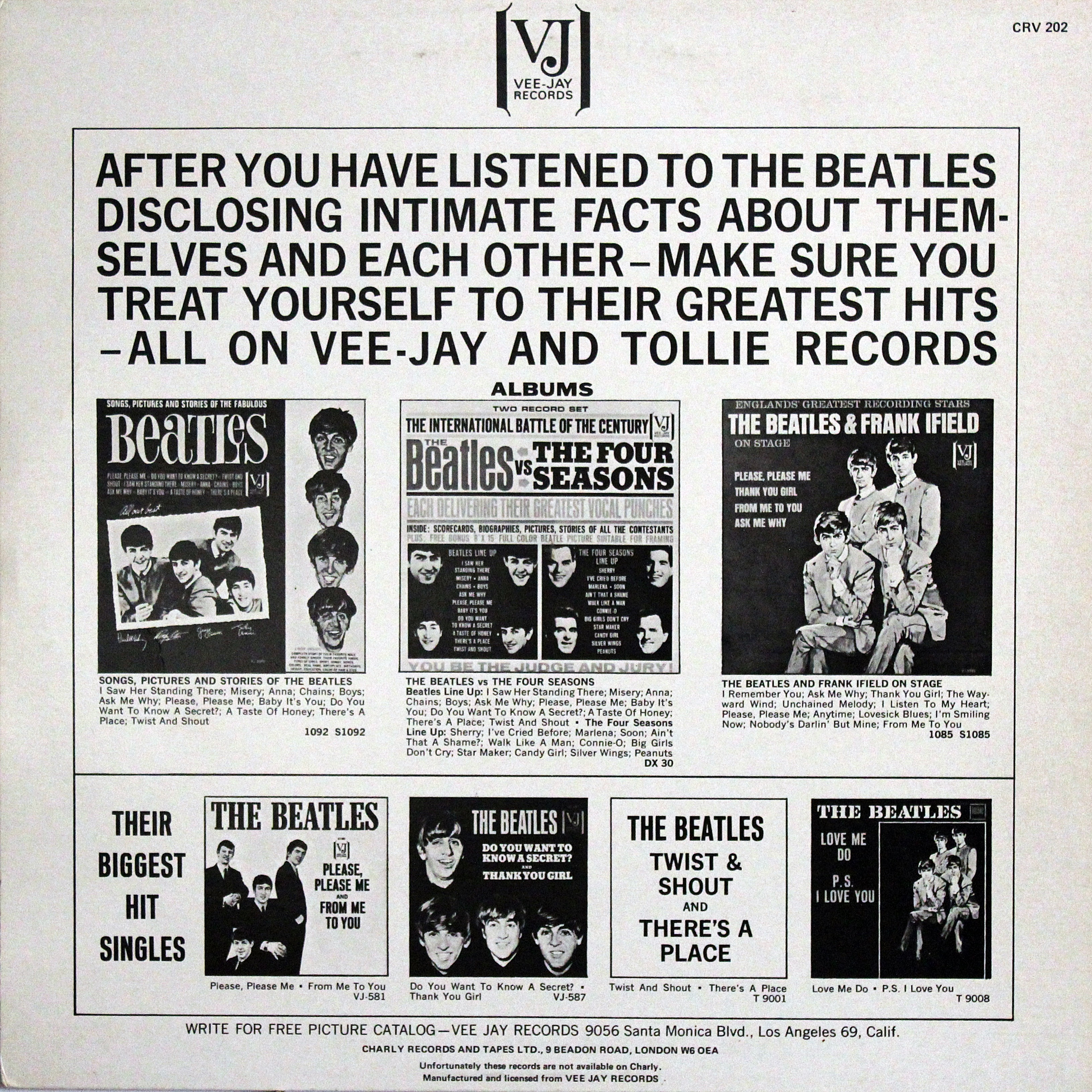Gmail themes beatles - In Order Not To Mislead The Buyers With Pictures Of Other Albums Of Vee Jay Records On The Reverse Side There Was Appeared Inscription Unfortunately These